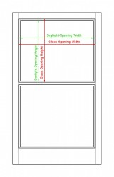 Daylight Opening and Glass Opening Measurements